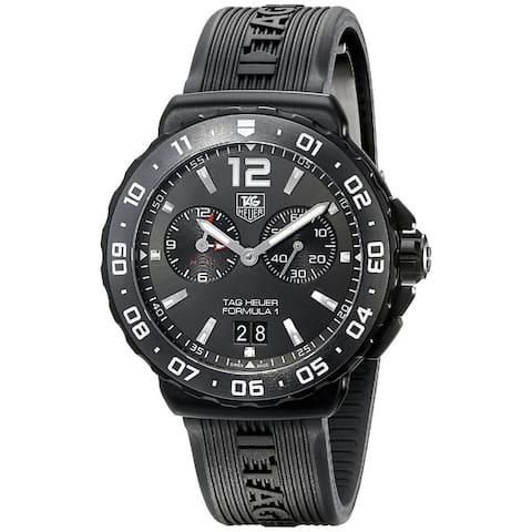 Tag Heuer Men's WAU111D.FT6024 'Formula 1' Anthracite Dial Black Rubber Strap Alarm Quartz Watch