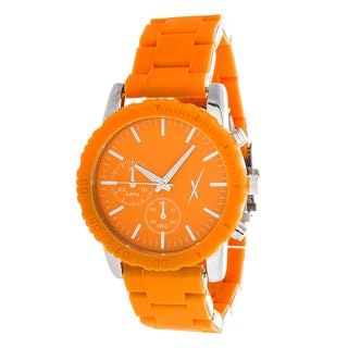Xtreme Women's Silver Case and Orange Dial with Orange Rubber Strap Watch