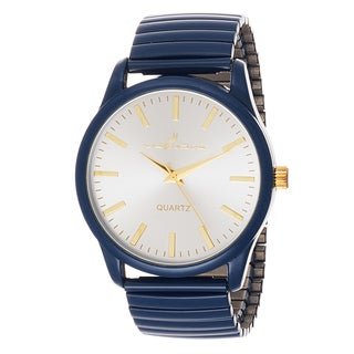 Via Nova Women's Navy Blue Case with Navy Blue Stretch Strap Watch