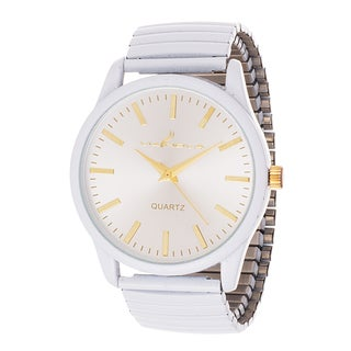 Via Nova Women's White Case with White Stretch Strap Watch