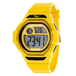 Everlast Retro Men's Digital Square Sport Yellow Digital Watch with Silicone Strap