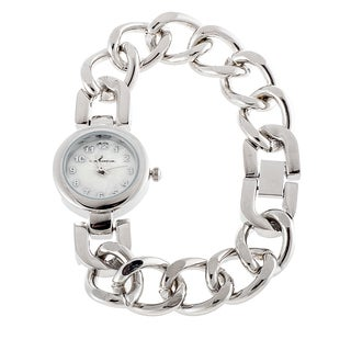 Via Nova Women's Silver Case with Silver Chain Strap Slim Watch