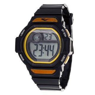 Everlast Retro Men's Digital Square Sport Black Digital Watch with Silicone Strap