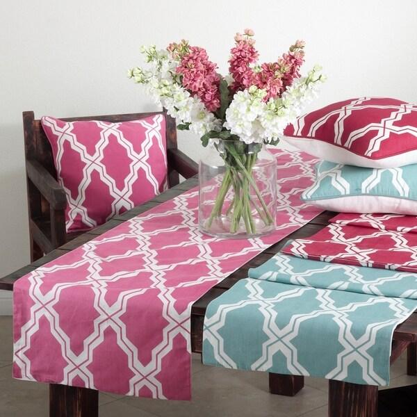 Moroccan Design Cotton-Linen Table Runner