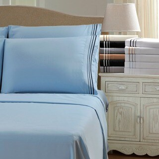 Superior Wrinkle Resistant Embroidered 6 Piece Microfiber Sheet Set