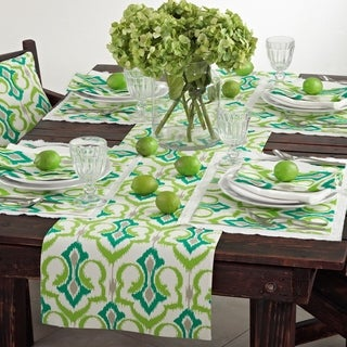Ikat Design Printed Table Linens (set of 4) (3 options available)