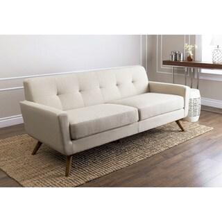 ABBYSON LIVING Bradley Ivory Fabric Sofa