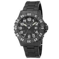 Akribos XXIV Men's Divers Quartz Stainless Steel White Bracelet Watch