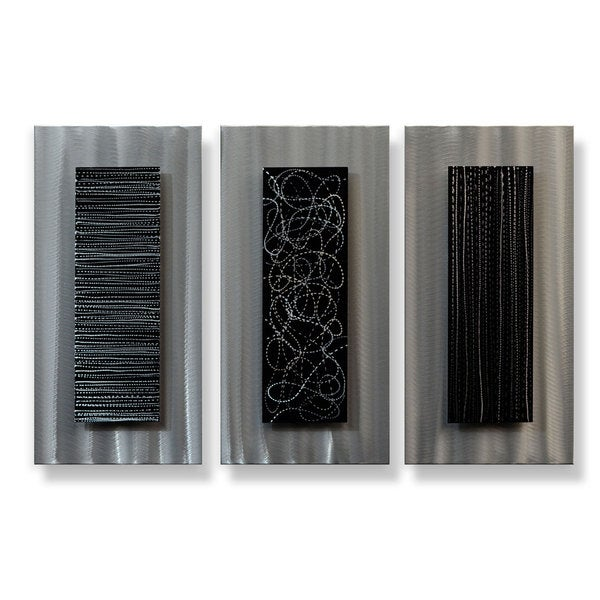 Metal Artscape 'Industrial Triptych' 3-piece XL Metal Wall Art Set