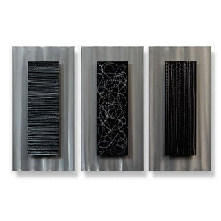 Metal Artscape 'Chutes and Ladders' 3-piece XL Metal Wall Art Set