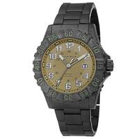 Akribos XXIV Men's Divers Quartz Stainless Steel Black Bracelet Watch