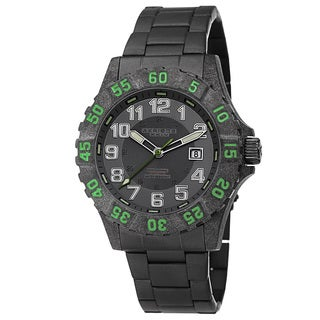Akribos XXIV Men's Divers Quartz Stainless Steel Green Bracelet Watch