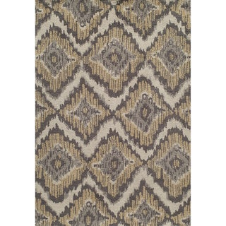Softique Diamond Ikat Hand-tufted Area Rug (2' x 3')