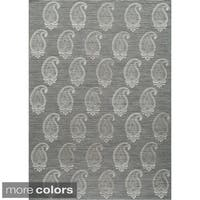 Momeni Lace Embroided  Hand-Woven Wool Blend Rug (2' X 3')