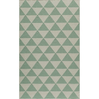 Mersa Diamond Reversible Flat Weave Wool Dhurrie Area Rug (2' x 3')