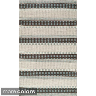 Momeni Mesa Blue Hand-Woven Wool Reversible Rug (2' x 3')
