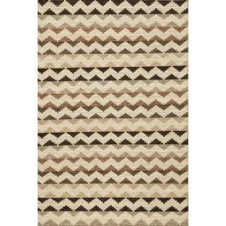 Sorrel Skinny Chevron Reversible Indoor Hand Woven Wool Area Rug (2' x 3')