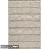 Momeni Mesa Beige Hand-Woven Wool Reversible Rug (2' X 3')