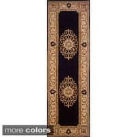 Momeni Maison Black Hand-Tufted Wool Runner Rug (2'6 X 8')