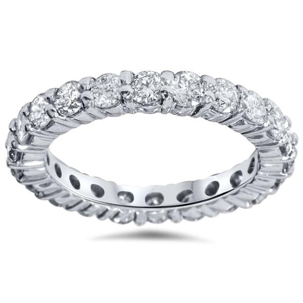 Bliss 14k White Gold 2ct TDW Diamond Eternity Wedding Ring