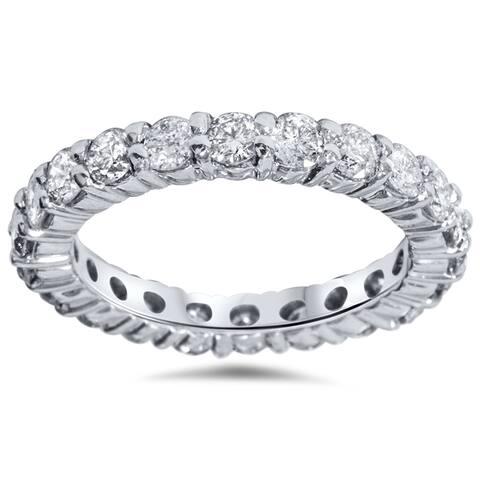 Pompeii3 14k White Gold 2ct TDW Diamond Eternity Wedding Ring