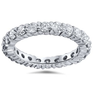 Bliss 14k White Gold 2ct TDW Diamond Eternity Wedding Ring