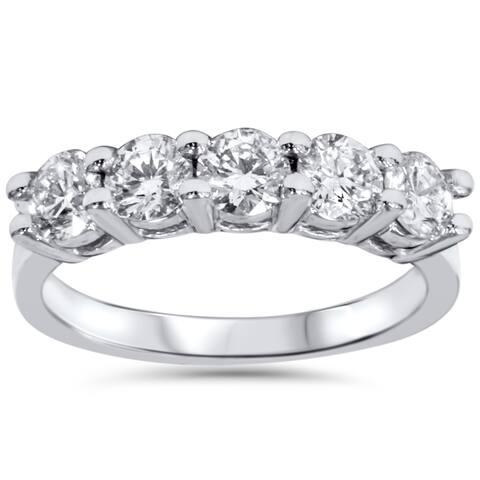 Pompeii3 14k Gold 1ct TDW 5-stone Diamond Wedding Ring (I-J, I2-I3)