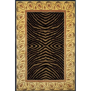 New Wave Animal Print Hand-tufted Wool Area Rug (2' x 3')
