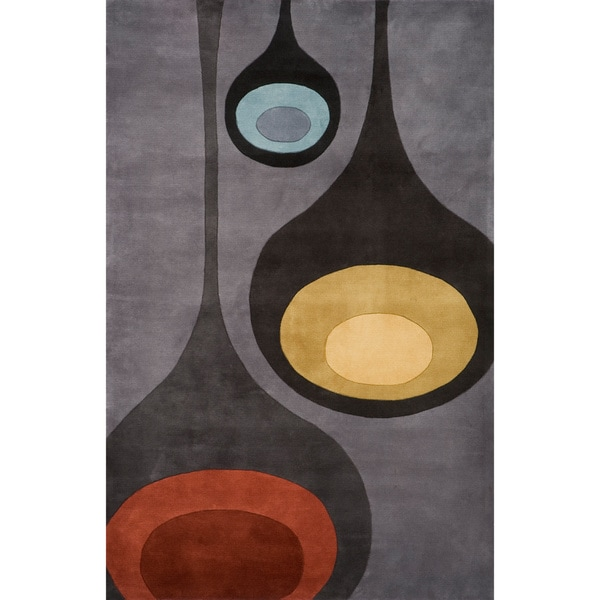 Momeni New Wave Steel Hand-Tufted and Hand-Carved Wool Rug (2' X 3') - 2' x 3'
