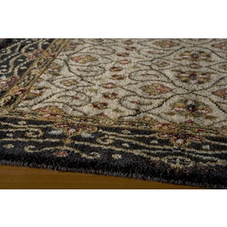 Momeni Persian Garden Charcoal NZ Wool Runner Rug (2'6 X 8')