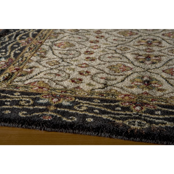 Momeni Persian Garden Charcoal NZ Wool Runner Rug (2'6 X 8') - 2'6 x 8'