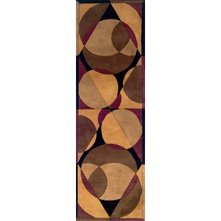 New Wave Jada Hand-tufted Wool Area Rug (2'6 x 12')