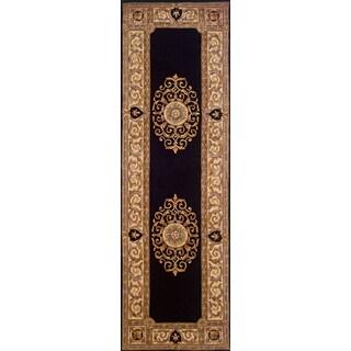 Momeni Maison Black Hand-Tufted Wool Runner Rug (2'6 X 4'3)