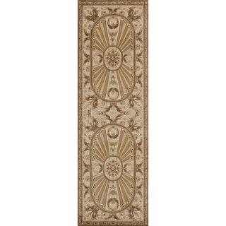 Aubusson Regal Hand-tufted Wool Area Rug (2'6 x 8')