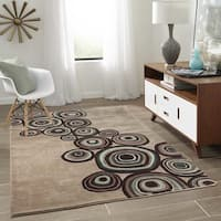 Momeni New Wave Mushroom Hand-Tufted and Hand-Carved Wool Runner Rug - 2'6 x 12'