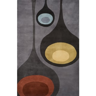 Momeni New Wave Steel Hand-Tufted and Hand-Carved Wool Runner Rug (2'6 X 12')