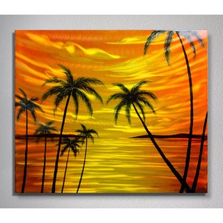 'Tropical Sunset' Medium Metal Wall Art