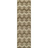 Momeni Mesa Grey Hand-Woven Wool Reversible Runner Rug (2'3 X 8')