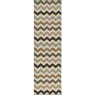 Sorrel Skinny Chevron Reversible Indoor Hand Woven Wool Area Rug (2' 3x 8')