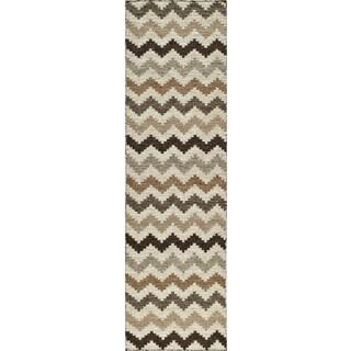 Momeni Mesa Natural Hand-Woven Wool Reversible Runner Rug (2'3 X 8')