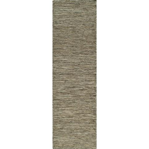 "Momeni Mesa Natural Hand-Woven Wool Reversible Runner Rug (2'3 X 8') - 2'3"" x 8' Runner"