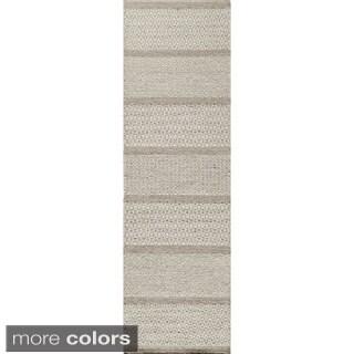 Momeni Mesa Beige Hand-Woven Wool Reversible Runner Rug (2'3 x 8')