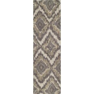 Softique Diamond Ikat Hand-tufted Area Rug (2'3 x 8')