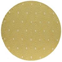 Momeni Veranda Yellow Diamonds Indoor/Outdoor Rug (9' X 9' Round)