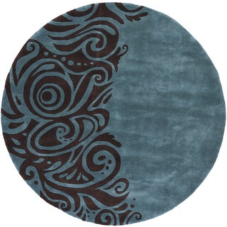 New Wave Fashion Hand-tufted Wool Area Rug (7'9 Round)