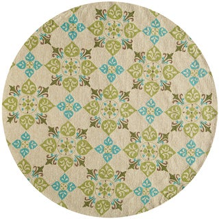 Momeni Veranda Beige Pool Tile Indoor/Outdoor Rug (9' X 9' Round)