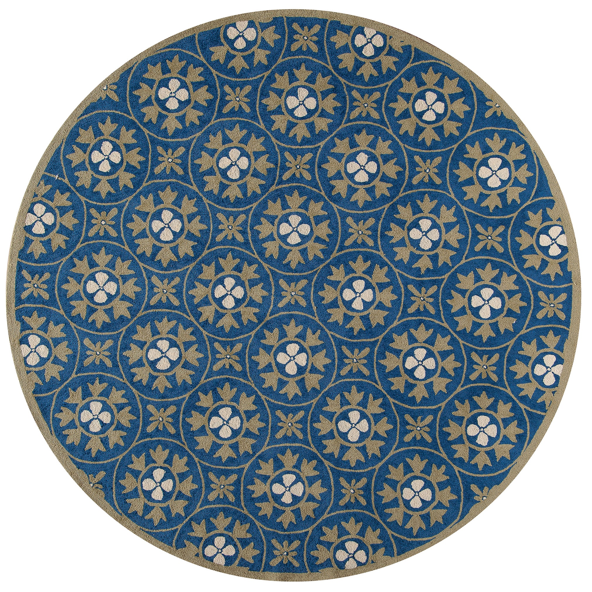 Momeni Veranda Blue Moroccan Tile Indoor Outdoor Rug 9 X 9