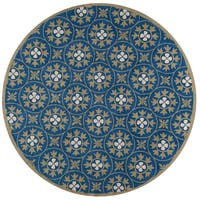 Momeni Veranda Blue Moroccan Tile Indoor/Outdoor Rug (9' X 9' Round)