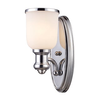 Brooksdale collection 1-Light Sconce In Polished Chrome