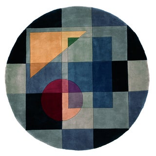 New Wave Albany Hand-tufted Wool Area Rug (7'9 Round)